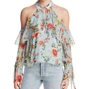 NWT Alice + Olivia Floral Blouse